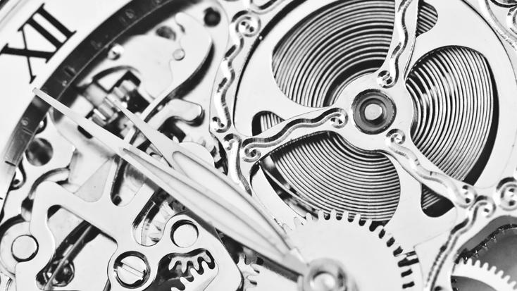 EditingPlus takes a detailed look at the big picture. (Cogs interconnecting within a watch)